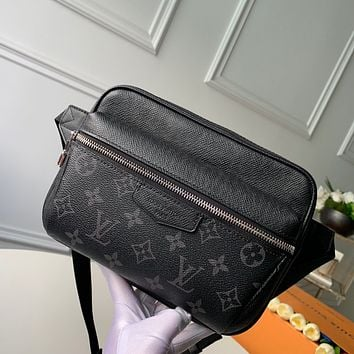 LV Louis Vuitton MEN'S MONOGRAM CANVAS OUTDOOR WAIST PACK CHEST BAG CROSS BODY BAG