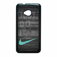 Nike Mint Just Do It Wooden Gray HTC One M7 Case