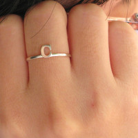 Any Initial Ring, Gift Idea, Unique Gift, Name Ring