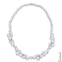 Bejeweled Cubic Zirconia Collar Necklace