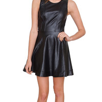 Perfect For You Dress - Black Leather