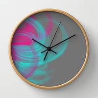 Feathers  Wall Clock by Lauren Lee Designs