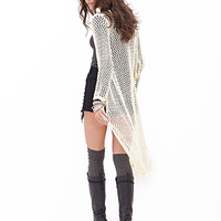 FOREVER 21 Open-Knit Maxi Cardigan