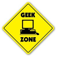 GEEK ZONE Sign xing gift nerd dork revenge of the nerds pocket protector