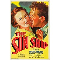 The Sin Ship Poster//The Sin Ship Movie Poster//Movie Poster//Poster Reprint