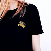 Burberry Embroidery short sleeve Top T-shirt Tee
