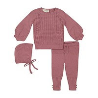 Teela Rose Cable Baby Set