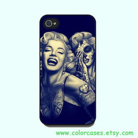 iPhone 4  case, iphone 5 Case --Marilyn Monroe Day Of The Dead , in durable black or white plastic for both iphone 4 and iphone 5