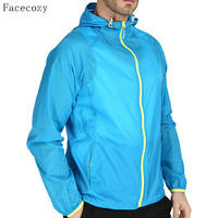 Facecozy Men Summer Outdoor Quick Dry Camping Jacket Male Transparent Multi-color UV Ultralight Thin Hiking Coat