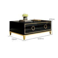 Rectangular Shaped Stylish & Spacious Coffee Table