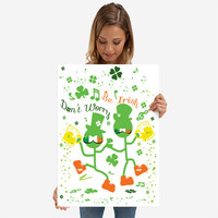 Don't worry Be Irish by Cindy Shim | Displate