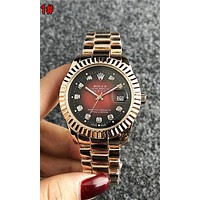 Rolex Stylish Ladies Men Diamond Quartz Watch Movement Wristwatch