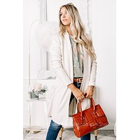 Actively Comfortable Open Cardigan   Ivory