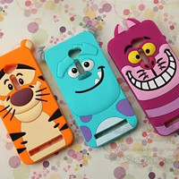"""3D Cute Cartoon Tigger Sulley Cheshire Cat Soft Rubber Silicone Back Cover Case For Asus Zenfone 2 ZE500CL 5"""" Mobile Phone Cases"""