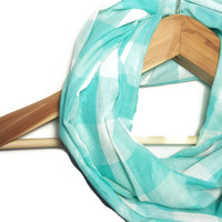 Teal Plaid Infinity Scarf - teal infinity scarf plaid scarf scarves for women sheer scarf fashion scarf teal scarf tube scarf circle scarf