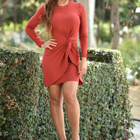 In Cahoots Dress - Rust