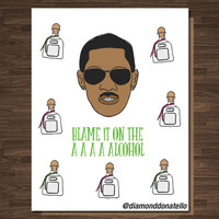 Funny St. Patrick's Day Card St. Patty Rap Rapper Hip Hop Pop Culture Blame it on the Alcohol Let's drink Birthday Card Boyfriend