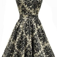 Buy Damask Delight Print Tea Dress
