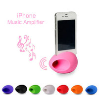 Fashion Silicon Stand iPhone Music Amplifier