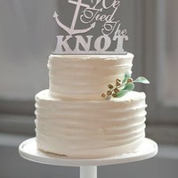 """Beach Wedding Anchor Cake Topper """"Tied the Knot"""""""