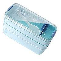 Portable 3 Layer 300ml Microwave Oven Lunch Bento Boxes Lunchbox