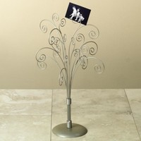 "16"" Silver Toned Photo Tree / Jewelry Holder"