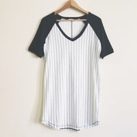 Eliza Vertical Stripe T-shirt Dress