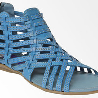 Women's Handmade Genuine Leather Huaraches Mexican Blue Sandals