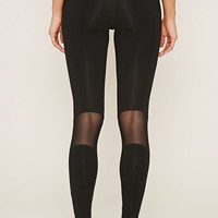 Active Mesh-Paneled Leggings | Forever 21 - 2000170067