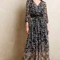NWT ANTHROPOLOGIE by MOULINETTE SOEURS EQUINOX PLEATED MAXI DRESS 2