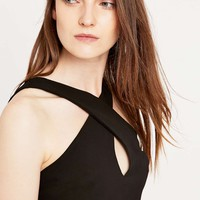 Sparkle & Fade Black Wrap Tank Top - Urban Outfitters