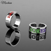 MQCHUN Harley Quinn Joker His & Hers Ring Suicide Squads Lovers Ring Adjustable Ring High Quality Xmas Couples Fashion Jewelry