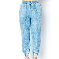 Blue Denim Jogger Pants