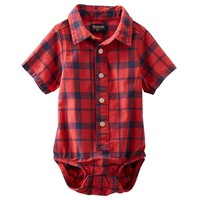 OshKosh B'gosh Button-Down Bodysuit - Baby Boy, Size: