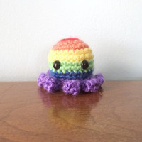 Rainbow Pride Octopus - Pride Plushies - Crochet Amigurumi - LGBT Crochet - Gay Pride - Crochet Octopus - Amigurumi Animals - Rainbow Animal