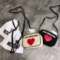 LOVE MOSCHINO Cute Canvas Crossbody Bags