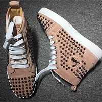 Cl Christian Louboutin Louis Spikes Style #1858 Sneakers Fashion Shoes - Best Deal Online