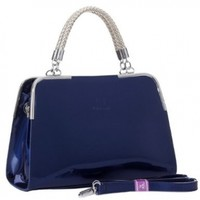 MG Collection MATANA Trendy PU Patent Leather Doctor Style Tote Purse