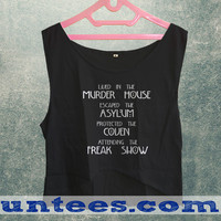 Lived in The Murder House Womens Crop Tank