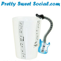UNIQUE GUITAR HANDLE DESIGN MUG