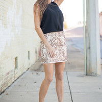 Elegant Ease Skirt, Cream