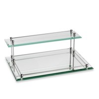 Taymor® Glass Two-Tier Valet Tray