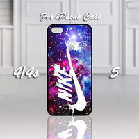Nike Nebula Galaxy, Design For iPhone 4/4s Case or iPhone 5 Case - Black or White (Option)
