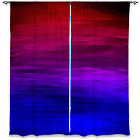 ETERNAL SUNSET Ombre Deep Pink Red Blue Art Window Curtains Multiple Sizes Abstract Home Decor Bedroom Kitchen Lined Unlined Woven Fabric