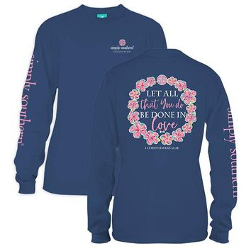 """Youth Simply Southern Long Sleeve - """"Let All"""""""