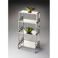 Butler Specialty Company 1291025 Metalworks Rectangular Mirrored Glass Four-Shelf Etagere