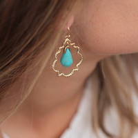 The Turquoise Drop Earring