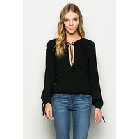 Key Heart Blouse - Black