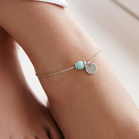 Faux Turquoise Anklet
