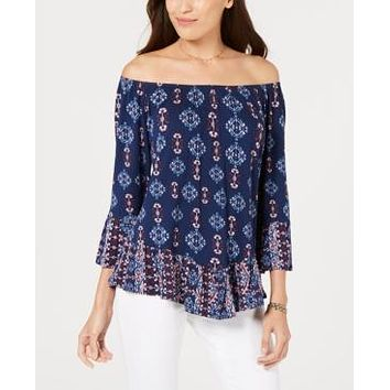 Style & Co Off-The-Shoulder Floral-Print Top